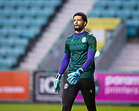 15th November 2020; Easter Road, Edinburgh, Scotland; Scottish League Cup Football, Hibernian versus Dundee FC; Dillon Barnes of Hibernian during the warm up before the match