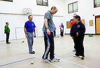 20 OCT 2011 - DISS, GBR - Iain Dawson helps members of the multi sport club for people with learning disabilities that he helped to found after becoming aware of its need during his work as a physiotherapist (PHOTO (C) NIGEL FARROW)