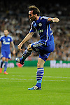 FC Shalke 04´s Christian Fuchs shoots to goal during 2014-15 Champions League match between Real Madrid and FC Shalke 04 at Santiago Bernabeu stadium in Madrid, Spain. March 10, 2015. (ALTERPHOTOS/Luis Fernandez)