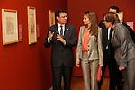 Princess Letizia of Spain visits the exhibition 'El trazo Espanol en el British Museum. Dibujos del Renacimiento a Goya' (Spanish drawings from the British Museum. Renaissance to Goya) at the Prado Museum.May 14,2013. (ALTERPHOTOS/Pool)