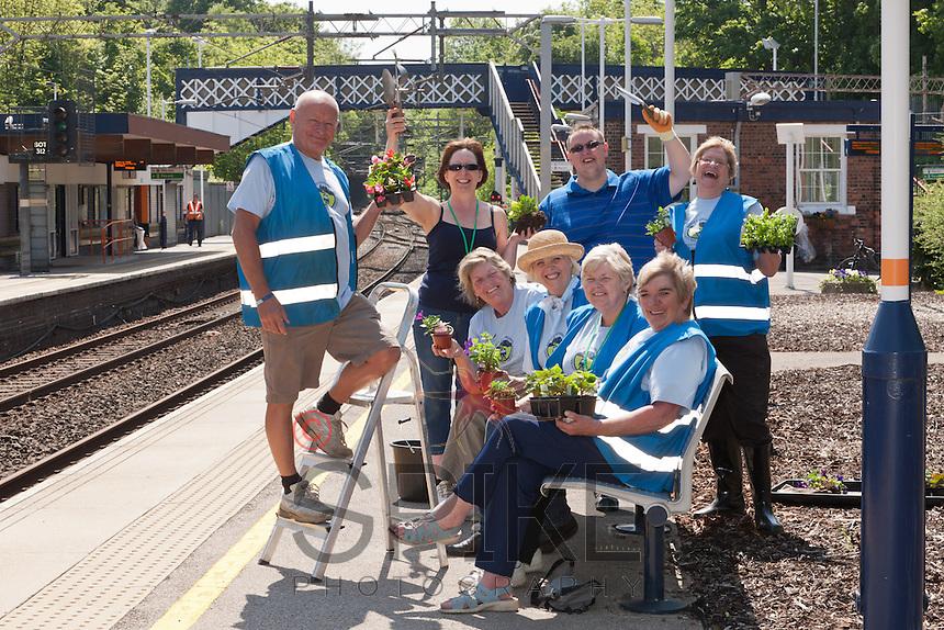 Volunteers help to keep Kidsgrove Station looking good.