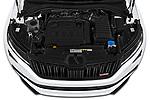 Car Stock 2019 Skoda Kodiaq RS 5 Door SUV Engine  high angle detail view