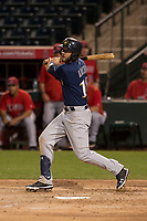 Milwaukee Brewers third baseman Lucas Erceg (18) during a Minor League Spring Training game against the Los Angeles Angels at Tempe Diablo Stadium on March 29, 2018 in Tempe, Arizona. (Zachary Lucy/Four Seam Images)