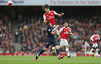 Arsenal's David Luiz and West Ham United's Pablo Fornals<br /> <br /> Photographer Rob Newell/CameraSport<br /> <br /> The Premier League - Arsenal v West Ham United - Saturday 7th March 2020 - The Emirates Stadium - London<br /> <br /> World Copyright © 2020 CameraSport. All rights reserved. 43 Linden Ave. Countesthorpe. Leicester. England. LE8 5PG - Tel: +44 (0) 116 277 4147 - admin@camerasport.com - www.camerasport.com