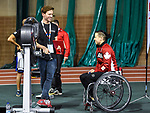 MONTREAL, QC - APRIL 29:  Cindy Ouellet speaks with an evaluator during the 2017 Montreal Paralympian Search at Complexe sportif Claude-Robillard. Photo: Minas Panagiotakis/Canadian Paralympic Committee