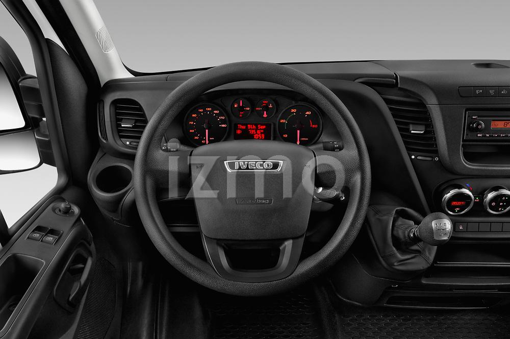 Car pictures of steering wheel view of a 2018 Iveco Daily 35S 4 Door Cargo Van