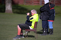Photographer Pete McDonald shoots the Wellington Rugby Union Paris Memorial Trophy Colts rugby match between Upper Hutt Rams and Northern United Blue at Maoribank Park in Upper Hutt, New Zealand on Saturday, 8 August 2020. Photo: Dave Lintott / lintottphoto.co.nz