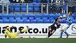 Alan Mannus and Steven Anderson save from Steven Thompson