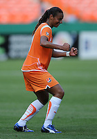 Sky Blue FC midfielder Rosana (11) celebrates her goal.  Washington Freedom defeated Skyblue FC 2-1  at RFK Stadium, Saturday May 23, 2009.