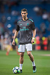 Cristiano Ronaldo of Real Madrid warms up prior to the La Liga 2017-18 match between Real Madrid and Athletic Club Bilbao  at Estadio Santiago Bernabeu on April 18 2018 in Madrid, Spain. Photo by Diego Souto / Power Sport Images