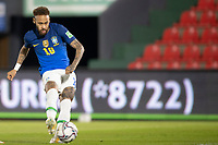 8th June 2021; Defensores del Chaco Stadium, Asuncion, Paraguay; World Cup 2022 qualifiers; Paraguay versus Brazil;  Neymar of Brazil shoots and scores his goal in the 4th minute 0-1