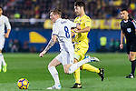Toni Kroos (l) of Real Madrid and Manuel Trigueros Muñoz of Villarreal CF in action during their La Liga match between Villarreal CF and Real Madrid at the Estadio de la Cerámica on 26 February 2017 in Villarreal, Spain. Photo by Maria Jose Segovia Carmona / Power Sport Images