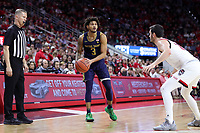 RALEIGH, NC - JANUARY 9: Prentiss Hubb #3 of the University of Notre Dame holds the ball during a game between Notre Dame and NC State at PNC Arena on January 9, 2020 in Raleigh, North Carolina.