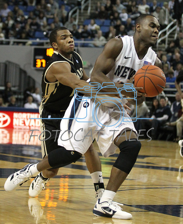 Images from an NCAA men's basketball game between Idaho and Nevada, in Reno, Nev., on Saturday, Feb. 4, 2012..Photo by Cathleen Allison