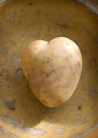 A heart-shaped potato