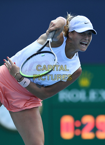 MIAMI GARDENS, FL - MARCH 30: Ashleigh Barty Vs Aryna Sabalenka at the 2021Miami Open at Hard Rock Stadium on March 30, 2021 in Miami Gardens, Florida. <br /> CAP/MPI04<br /> ©MPI04/Capital Pictures