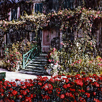 The splendor and excitement of Giverny warms the hearts of all true gardeners. Monet brought artistry first to his famous garden and then he painted it for the world to cherish.
