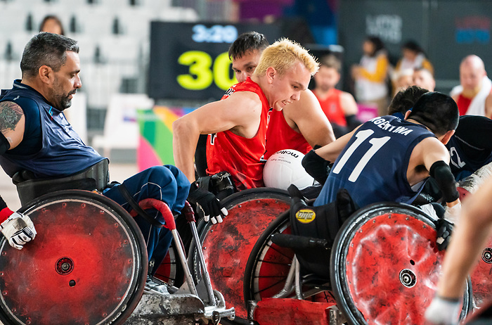 Branden Troutman, Lima 2019 - Wheelchair Rugby // Rugby en fauteuil roulant.<br /> Canada takes on Argentina in wheelchair rugby // Le Canada affronte l'Argentine au rugby en fauteuil roulant. 23/08/2019.