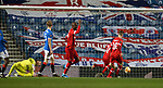 25.02.2021 Rangers v Royal Antwerp: Allan McGregor beaten by Lior Refaelov