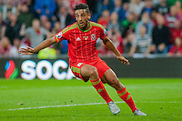 CARDIFF, WALES - JUNE 12: Swansea city players Ashley Williams, Jazz Richards and Neil Taylor  during the UEFA EURO 2016 Qualifier between Wales and Belgium at the Cardiff City Stadium in Cardiff, Wales. (Photo by Athena Pictures/Getty Images)