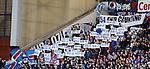 Rangers fans celebrating 54 league titles