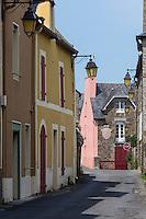 France, Ille-et-Vilaine (35), Cancale, ville-haute maisons Rue Hamon Vaujoyeux//France, Ille et Vilaine, Cancale, Hamon Vaujoyeux street