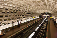 Washington Metropolitan Area Transit Authority (WMATA) McPherson Square station interior and tracks.