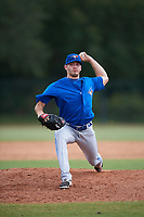 Toronto Blue Jays pitcher Zach Logue (67} delivers a pitch during an Instructional League game against the Philadelphia Phillies on September 30, 2017 at the Carpenter Complex in Clearwater, Florida.  (Mike Janes/Four Seam Images)