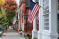 Quaint shops along Main Street, Stockbridge, Massachusetts, USA