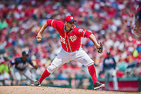 22 June 2014: Washington Nationals pitcher Craig Stammen on the mound against the Atlanta Braves at Nationals Park in Washington, DC. The Nationals defeated the Braves 4-1 to split their 4-game series and take sole possession of first place in the NL East. Mandatory Credit: Ed Wolfstein Photo *** RAW (NEF) Image File Available ***