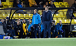 Livingston v St Johnstone…31.10.18…   Tony Macaroni Arena    SPFL<br />Tommy Wright and assistanty Alex Cleland<br />Picture by Graeme Hart. <br />Copyright Perthshire Picture Agency<br />Tel: 01738 623350  Mobile: 07990 594431