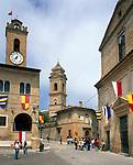 ITA, Italien, Marken, Dorf Monterubbiano mit historischem Ortskern | ITA, Italy, Marche, village Monterubbiano with historic centre