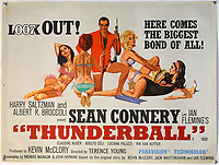 BNPS.co.uk (01202) 558833.<br /> Pic: Ewbank's/BNPS<br /> <br /> Pictured: Connery was in a fetching pair of flippers and of course he was surrounded by scantily clad ladies was part of the sale <br /> <br /> A collection of rare James Bond movie posters and memorabilia has sold for £220,000 following a bidding war.<br /> The adverts in the sale included a prized British Quad poster with four different works of art promoting the 1965 film Thunderball, which fetched £10,000.<br /> <br /> The 30ins by 40ins poster was designed to be cut into four pieces, so very few examples - complete or otherwise - have survived.