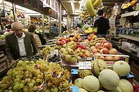 Frutta e verdura al Mercato delle Erbe di Bologna.<br /> Vegetables for sale at the Mercato delle Erbe food market in Bologna.<br /> UPDATE IMAGES PRESS/Riccardo De Luca