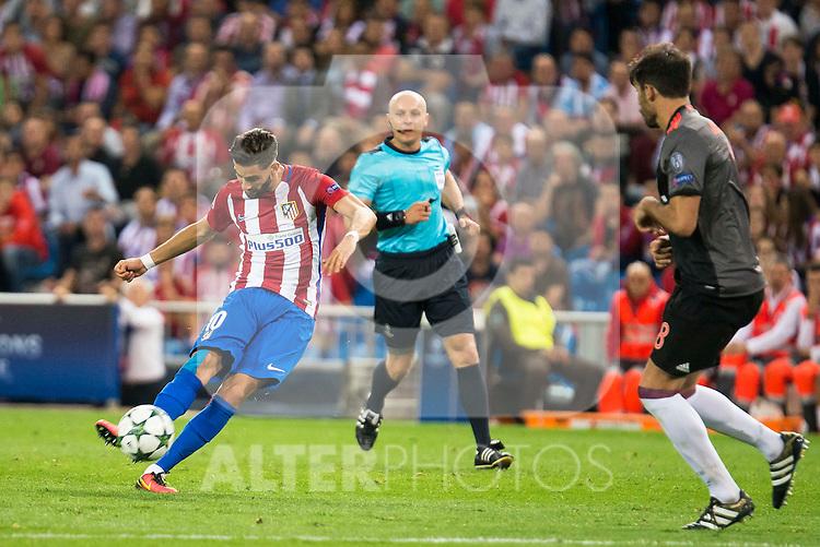 Atletico de Madrid's player Yannick Carrasco during match of UEFA Champions League at Vicente Calderon Stadium in Madrid. September 28, Spain. 2016. (ALTERPHOTOS/BorjaB.Hojas)