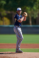 Milwaukee Brewers pitcher Drake Owenby (54) during an instructional league game against the Los Angeles Dodgers on October 13, 2015 at Cameblack Ranch in Glendale, Arizona.  (Mike Janes/Four Seam Images)