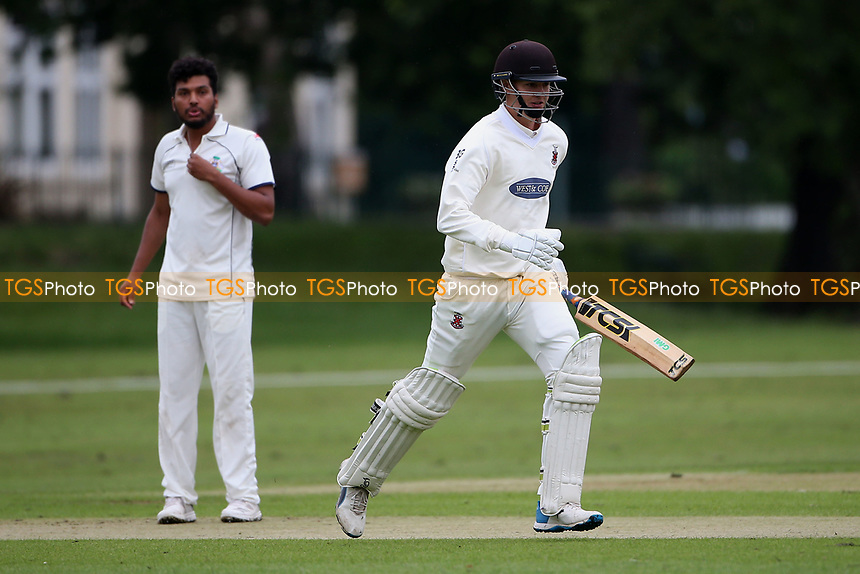 B Gordon in batting action for Hornchurch during Hornchurch CC vs Wanstead and Snaresbrook CC, Hamro Foundation Essex League Cricket at Harrow Lodge Park on 10th July 2021