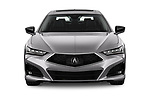 Car photography straight front view of a 2021 Acura TLX Advance-Package 4 Door Sedan Front View