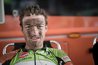 Fréderique Robert's (BEL/Crelan - Vastgoedservice) post-race face<br /> <br /> 91th Schaal Sels 2016