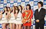 Katy Perry, Girls' Generation, Naoshi Fujikura, Mar 02, 2014 :  Saitama, Japan : Singer Katy Perry and South Korean girl group Girls' Generation attend the U-Express Live 2014 press conference at Saitama Super Arena in Saitama Prefecture, Japan, on March 2, 2014.