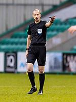6th February 2021; Easter Road, Edinburgh, Scotland; Scottish Premiership Football, Hibernian versus Aberdeen; Referee William Collum