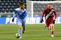 Chester, PA - Friday December 08, 2017: Alan WinnAlan Winn The Indiana Hoosiers defeated the North Carolina Tar Heels 1-0 during an NCAA Men's College Cup semifinal soccer match at Talen Energy Stadium.