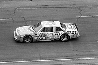 HAMPTON, GA - NOV 2:  Brett Bodine drives his brother Geoff's car during an ARCA race before the Atlanta Journal 500 NASCAR Winston Cup race at Atlanta Motor Speedway, November 2, 1985. (Photo by Brian Cleary/www.bcpix.com)