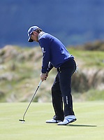 Friday 29th May 2015; Bernd Wiesberger, Austria, taps in for his par on the 8th green<br /> <br /> Dubai Duty Free Irish Open Golf Championship 2015, Round 2 County Down Golf Club, Co. Down. Picture credit: John Dickson / SPORTSFILE