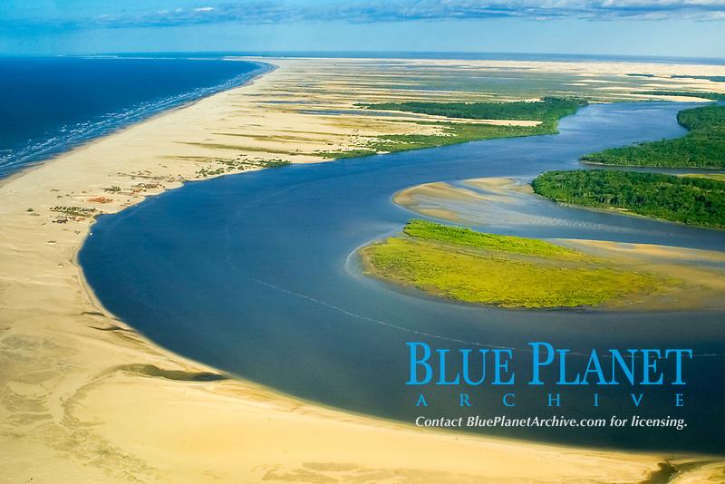 Cabure village on the coast of Maranhão, Brazil