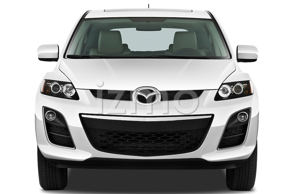 Straight front view of a 2010 Mazda CX7i Sport