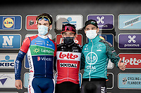 Caleb Ewan (AUS/Lotto-Soudal) wins the 108th Scheldeprijs 2020 (1.Pro)<br /> Niccolo Bonifazio (ITA/Total Direct Energie) finishes 2nd (after Pascal Ackermann was disqualified for irregular sprinting) <br /> and Bryan Coquard (FRA/B&B Hotels - Vital Concept) 3rd.<br /> <br /> 1 day race from Schoten to Schoten BEL (173km)<br /> <br /> ©kramon