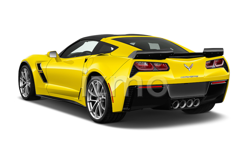 Car pictures of rear three quarter view of 2018 Chevrolet Corvette Grand-Sport-2LT 3 Door Coupe Angular Rear