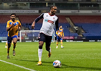 Bolton Wanderers' Nathan Delfouneso breaks<br /> <br /> Photographer Andrew Kearns/CameraSport<br /> <br /> The EFL Sky Bet League Two - Bolton Wanderers v Mansfield Town - Tuesday 3rd November 2020 - University of Bolton Stadium - Bolton<br /> <br /> World Copyright © 2020 CameraSport. All rights reserved. 43 Linden Ave. Countesthorpe. Leicester. England. LE8 5PG - Tel: +44 (0) 116 277 4147 - admin@camerasport.com - www.camerasport.com