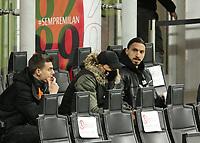 Milano 14-03-2021<br /> Stadio Giuseppe Meazza<br /> Serie A  Tim 2020/21<br /> Milan - Napoli<br /> Nella foto:   Zlatan Ibraimovic Mario Mandzuki Daniele Maldini                                   <br /> Antonio Saia